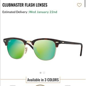 Rayban clubmaster reflective glasses